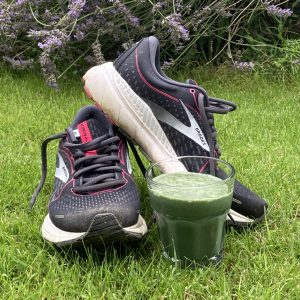 Pre-run shake with running trainers